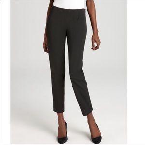 Theory Belisa Slim Dark Green Cropped Pants